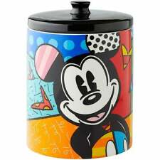 Disney By Romero Britto Mickey Mouse Cookie Biscuit Jar New 6004975