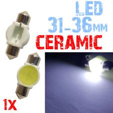 1 LAMPADINE SILURO CERAMICA 31/36mm LED BIANCO luce Interno Auto Targa 2A7 2C1.1