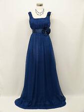 Cherlone Plus Size Chiffon Blue Ballgown Wedding Evening Bridesmaid Dress 8-10