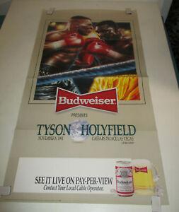 1991 BUDWEISER Boxing Poster 19x36 HOLYFIELD TYSON Caesars Palace # 2753