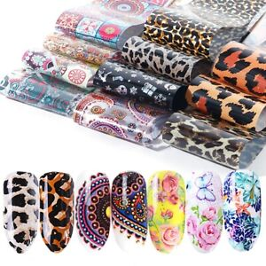 50 pcs 20 X 4 cm Water Slider Sticker For Nail Art Foil Flower Manicure at home