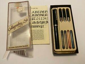 Vintage Sheaffer Calligraphy Set NO INK 3 Nibs Writing Pen Instruction Manual