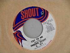 FREDDIE SCOTT~CRY TO ME~VG+++~SHOUT~NO ONE COULD EVER LOVE YOU~~R&B 45
