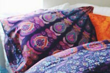 Set of 2 Indian 18X28 Pillow Cushion Cover Cotton Handmade Mandala Multicolor 12