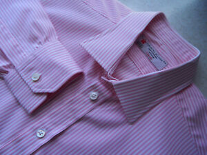 Turnbull & Asser Pink White Striped Shirt Size 41 / 16 Never used