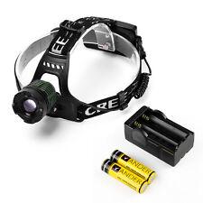 Hot 2000 lumens XM-L T6 Headlight Head Light Lamp + Free 18650 Battery & Charger