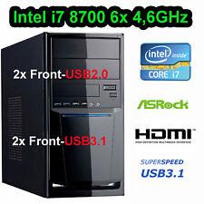 Mini Aufrüst PC INTEL 8.Gen i7 8700 6x 4,6GHz 16GB DDR4 HD630 USB3 HDMI SIXCORE