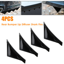 Universal 4PCS Car Rear Bumper Lip Spoiler Diffuser Shark Fins Trims Deflector