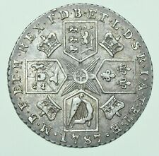 More details for 1787 george iii shilling, with semeÉ  of hearts, british silver coin ef