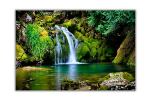 Landscape Fresh Water Waterfall Poster Wall Art Prints House Decoration Picture