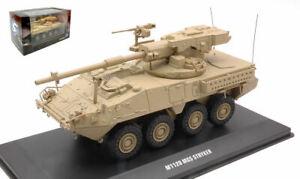 Miniature Wagons Chars Réservoir diecast solido M1128 Mgs Stryker Désert 1:48