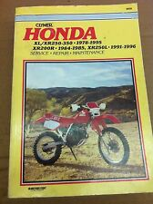 Honda XR XL 200 250 350 Clymer Repair, Maintenance and Service Manual
