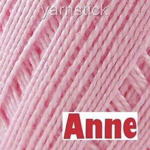 Circulo ANNE500 3077_ROSE PETAL PINK Crochet Cotton Knitting Thread Yarn #3 500M