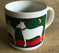 1 Coffee Mug Cup Christmas Houze FPC England Reindeer Holiday Collectible