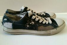 Converse Patchwork Patched Lace Up Sneaker Shoes Mens 9 Womens 11