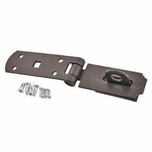 """Amtech Hasp & Stample Lock 10"""" x 2"""" Carbon Steel Fixing Screws Garden T2200"""