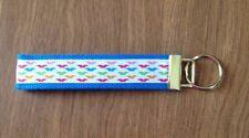 Mustache  wristlet key fob holder key chain zipper pull