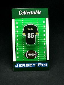 Pittsburgh Steelers Hines Ward jersey lapel pin-Classic vintage Collectable