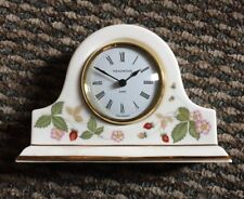 "NEW WEDGWOOD ""WILD STRAWBERRY"" MANTEL CLOCK"