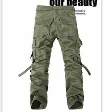 NEU Herren Army Style Pure Vintage Men Cargohose lang lose Militär Cargo Hose CN
