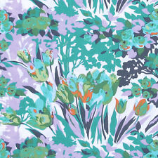 """1 yard 25 inches AMY BUTLER """"VIOLETTE"""" MEADOW BLOOMS Turquoise"""