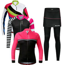 Ladies Cycling Jersey Long sleeve Breathable skirts Pants  Tights Sets Outdoor