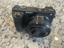 Sony Alpha a6500 Mirrorless Digital Camera SELP 16-50mm Lens + 6 Batteries