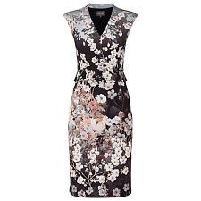 Hermosa Fase Ocho Kyoto Floral Wiggle Vestido Talla 14 RRP £ 110 Nuevo con etiquetas