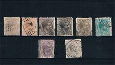 España. Conjunto de 8 sellos diferentes Alfonso XII
