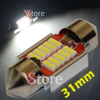 2 LED Festoon 31mm 10SMD 4014 Canbus No Errore Lampade Luci BIANCO Interno Targa