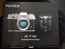 Fujifilm X Series X-T10 16.3MP Digital Camera - Silver with two lens and acc
