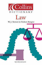 Law (Collins Dictionary of), Burgess, Robert, Stewart, William J., Very Good Boo
