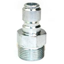 """Quick Connect Coupler Plug 3/8"""" Steel Plug x M22 Male Threads - PW7155"""