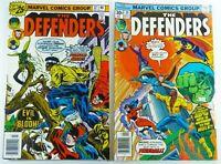 Marvel THE DEFENDERS (1976) #37 + #39 LOT Hulk LUKE CAGE Nova FN Ships FREE!