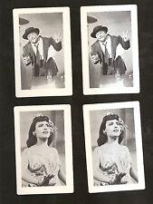 4 MGM Movie Cards ZIEGFELD FOLLIES 1946 w/ RED SKELTON  LENA HORNE nm-Mint COND.