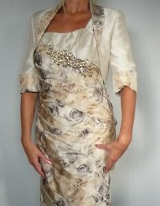 STUNNING GOLD DESIGNER ISPIRATO MOTHER OF THE BRIDE OUTFIT SIZE 12