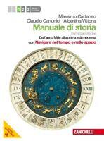 Manuale di storia 1° ZANICHELLI scuola, Cattaneo/Canonici codice:9788808194534