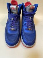 Mens Nike Lunar Force 1 Fuse  580616 400 ROYAL - WOLF GRAY - SIREN RED   Size 9