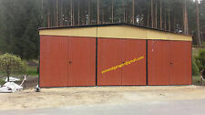 Blechgarage 9x6x3,5 Blechhalle Schuppe Lager Fertiggarage 4Kantprofil +Aufbau