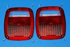 NEW Jeep CJ5 CJ7 CJ8 YJ TJ Wrangler Tail light Lens pair 1976-06 3 YEAR WARRANTY