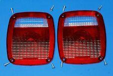 NEW Jeep CJ5 CJ7 CJ8 YJ TJ Wrangler Tail light Lense pair 1976-06 3YEAR WARRANTY