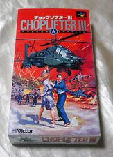 NINTENDO SUPER FAMICOM CHOPLIFTER III 3  SNES JAPAN Victor 1994 chop lifter RARE