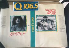 Vtg Radio Promo Poster & Bumper Sticker, New Kids On The Block, St Louis, Q101.5