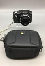Canon PowerShot SX130 IS 12.1 MP Digital Camera 12X - Black Bundle - D12