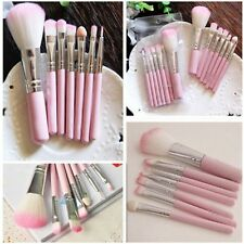 Pink New 7Pcs Womens Brush Set Eyeshadow Makeup Cosmetic Tools Eye Face Brushes