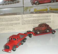Semi-remorques miniatures rouges 1:87