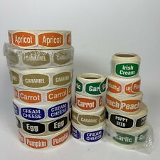 16 Rolls Bakery Food Packaging Retail Stickers Labels Grocery White Edge Pumpkin