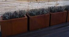 Blumenkübel / Trog zum Beflanzen, Edelrost