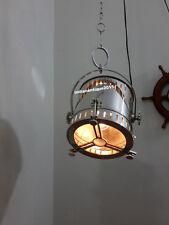 Modern Industrial Wave Nautical Chrome Pendant Lamp Hanging Ceiling Light