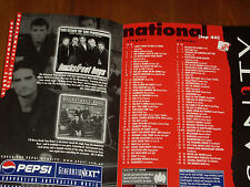 THE BACKSTREET BOYS - 14 SEP 1998 - AUSTRALIAN SANITY CHART  AS NEW